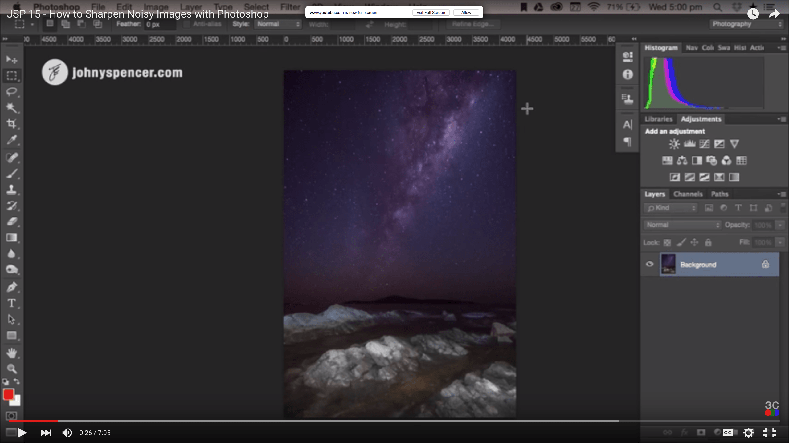 How to Sharpen Noisy Images with Photoshop