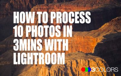 How to process 10 photos in 3mins with Lightroom