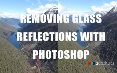 How to remove glass reflections with Photoshop