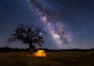 Milky way Tent Navajo Flat  2